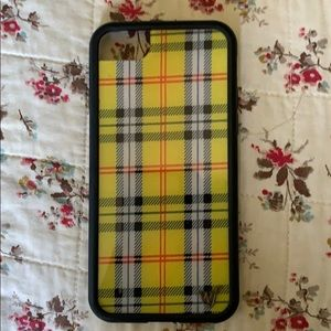 Wildflower plaid yellow iPhone 6/7/8 case